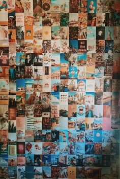 Cute Bedroom Ideas, Room Ideas Bedroom, Bedroom Layouts, Bedroom Wall Collage, Photo Wall Collage, Bedroom Picture Walls, Picture Collages, Photo Walls, Retro Bedrooms