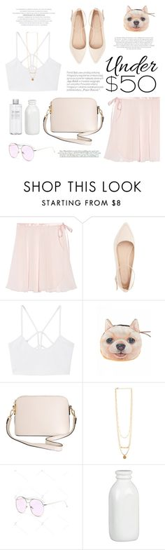 """""""#skirtunder50 II"""" by riennise on Polyvore featuring Ballet Beautiful, Charlotte Russe, MANGO, Humble Chic, Maroc, Anja, Muji, Crate and Barrel, Kerr® and under50"""