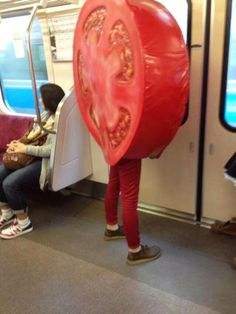Commuting Tomato.... maybe incorporate this idea into 2 pt perspective cityscape…