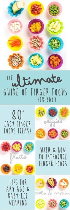 The Ultimate Guide to Finger Foods for Baby Led Weaning - Baby Ernährung - This Ultimate Guide of Finger Foods for Baby has over 80 tasty finger food ideas that your baby can - Toddler Meals, Kids Meals, Toddler Food, Toddler Nutrition, Baby Meals, Fingerfood Baby, Baby Finger Foods, Finger Finger, Homemade Baby Foods