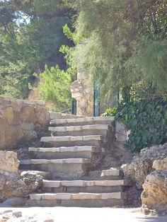 stone steps to a private yard in Provence