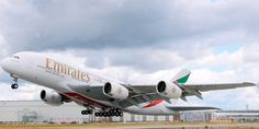 Emirates A380 landing Airbus A380 Emirates, Emirates Airline, Aircraft Images, Aircraft Pictures, Air Travel, Travel And Tourism, 747 Airplane, Dubai, Bmw X6