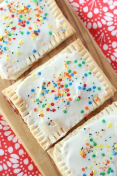 Homemade Pop Tarts that only need THREE ingredients to make! I bet you didn't know how easy these are to make at home?! Make this easy breakfast idea or any of the other 100 Crazy Easy Recipes for Kids in just minutes!