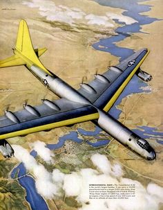 consolidated is the world's largest bomber American Civil War, American History, United Aircraft Corporation, Strategic Air Command, Experimental Aircraft, Military Pictures, Jet Engine, Ww2 Planes, Aviation Art