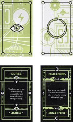 Curses playing card design