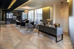 CBRE Office, London, Herringbone Wood Flooring