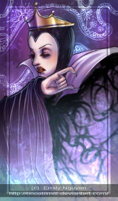 Evil Queen --snow white fanart by emilynguyenart on deviantART