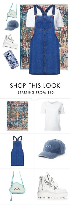 """""""blue denim"""" by amirafadilla ❤ liked on Polyvore featuring Lemaire, Boohoo, SO, Puma and Samsung"""