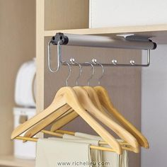 Pull-Out Wire Rack - 93800110 Pull-out wire skirt and pant rack. Ball-bearing slide. Application: Jackets, Dresses, Shirts Product Type: Hanger Rod Product Dimensions - Width: 50 mm Product Dimensions