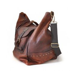 e3017c5806 Pratesi Talamone large soft women leather bag Handmade in Italy Brown  Leather Purses