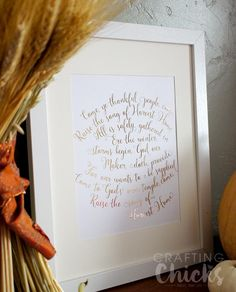 Use the Heidi Swapp Minc Machine to create this Harvest Home Foil Art. Free download.
