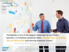 Complexity is costing companies on average 10% of their profits & harming employee morale