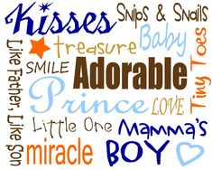 Anne's Vinyl and so much more!: Free BABY BOY Printables