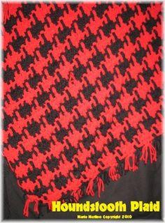 Crochet e tecer uma manta Lap Houndstooth Sized afegão