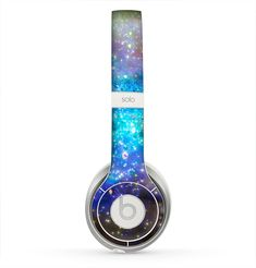 The Glowing Space Texture Skin for the Beats by Dre Solo 2 Headphones from DesignSkinz