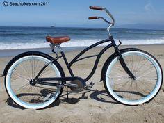 Love the Tiffany Blue Wheels. Just Add Basket & Towel! sixthreezero Classic Edition Single Speed - Womens 26 Beach Cruiser Bike