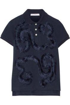 Embroidered cotton-piqué polo shirt #shirt #offduty #covetme #juliendavid