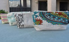 Cosmetic bags by Warehouse Fabrics Inc., via Flickr