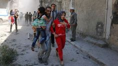 Aid agencies have warned that Aleppo  is on the brink of a humanitarian disaster    Syria's d...