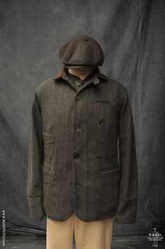 The Kai D. label was conceived with one simple notion: to create HANDSOME and FUNCTIONAL products to reflect our affection for utilitarian ideals and ti. Mens Outdoor Fashion, Mens Fashion, Rugged Fashion, Fashion Trends, Tweed Jacket Men, Work Jackets, Men's Jackets, Skinny Fashion, Trench Coat Men
