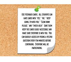 Student Response Cards for Feedback and Assessment