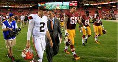 NFL: Cleveland Browns lose to the Washington Redskins as Johnny Manziel struggles