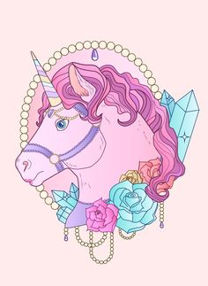 Unicorn Tattoo Design by WhippedCreamCake.deviantart.com on @DeviantArt
