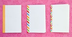 You won't believe how easy it is to make these mini sketchbooks! These sketch books would be great for party favors, pocket journals, or ...