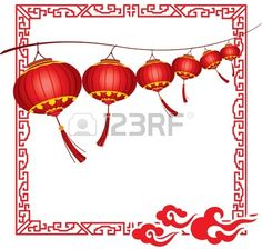 Cadena de brillantes que cuelgan faroles rojos chinos decoraciones photo