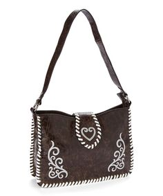 Look at this Blazin Roxx Brown Embroidered Heart Shoulder Bag on #zulily today!