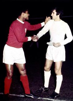 #Eusebio (#Benfica) and #GeorgeBest (#ManUnited) #SLB #MUFC.