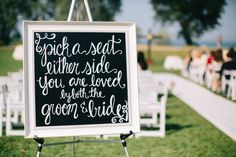 Wedding Ceremony Seating Sign. #ChicagoWeddingPlanner Camille Victoria Weddings LLC Chicago Cultural Center Wedding, Chicago Wedding, Wedding Ceremony Seating, Victoria Wedding, Illinois, Wedding Planner, Romance, How To Plan, Sign