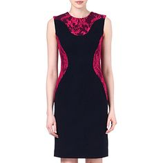 ERDEM Jenna lace-detail contour dress (Navy