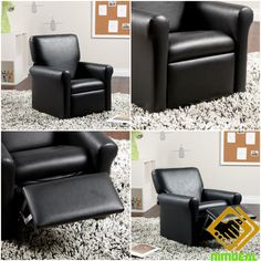 CHILDRENS RECLINER CHAIR Kids Cosy Spot Sitting Footrest Video Game Comfort Seat