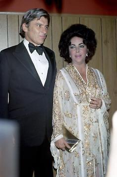Elizabeth Taylor and John Warner.....Uploaded By www.1stand2ndtimearound.etsy.com