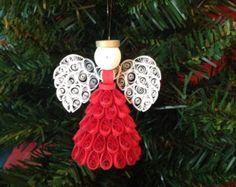 Elige tu color Quilled Angel adorno o Topper por joanscrafts