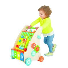 """Imaginarium Play Away Activity Walker - Toys R Us - Toys """"R"""" Us - This one's nice, wood, has a music toy included, and storage."""