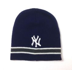 YOUTH size NEW YORK YANKEES BEANIE boy girl kids winter knit ski hat  striped NEW be6071bae0f7