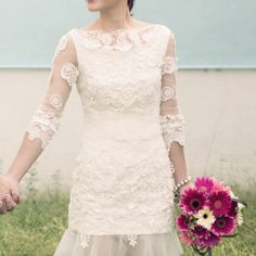 White Lace  With Sleeves Short Wedding Dress,Lace Short Dress,Reception Dress,Party Dress,Short Length,Bridal Lace Dress,Mini Dress