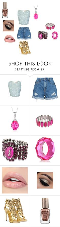 """star's summer edition outfit"" by miliorobb on Polyvore featuring Nobody Denim, Ross-Simons, New Directions, Miu Miu, Kenneth Jay Lane, Giuseppe Zanotti and Barry M"