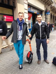 The SOLOWHEEL has been tested on the streets of Barcelona.