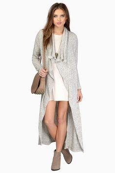 Love the Overcasted Draped Cardigan and booties
