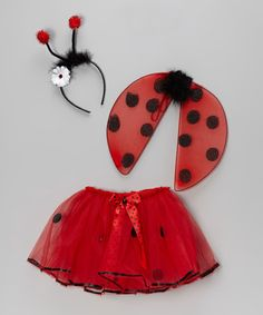 Take a look at this Red Ladybug Wings Set - Infant & Toddler by Sparkle Adventure on #zulily today!