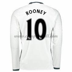 Manchester United Fotballdrakter 2016-17 Rooney 10 Tredjedrakt Langermet