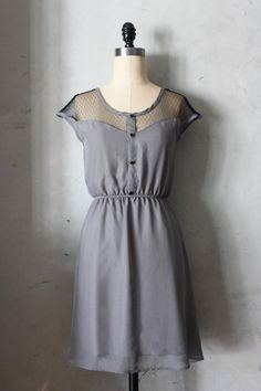 Le Petit Dejeuner Dress in Charcoal - AVAILABLE 4/15