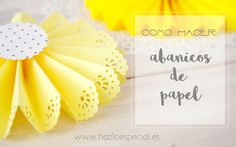 ABANICOS DE PAPEL Baby Shower Duck, Place Card Holders, Make It Yourself, Paper, Birthday, Projects, Blog, Artworks, Valentino