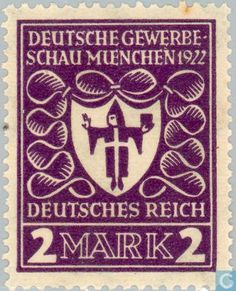 1922 German Empire - Munich Coat of Arms