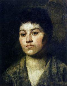 Portrait of a girl - Anton Azbe
