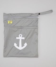 This Gray Anchor Wet Bag by Little Monsters is perfect! #zulilyfinds