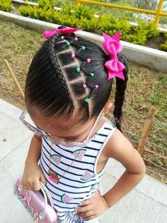 Little Girl Braid Styles, Little Girl Braids, Girls Braids, Little Girls, Baby Girl Hairstyles, Hairstyles For School, African Hairstyles, Braided Hairstyles, Rubber Band Hairstyles